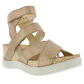 Womens Fly London Wege Cool Luna Strappy Cut Out Open Toe Wedge Sandals