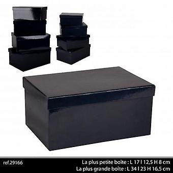 Sæt med 8 kasser Nesting pap gave sort Design opbevaringskasser