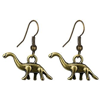 Diplodocus Dinosaur Tin Alloy Drop Earrings