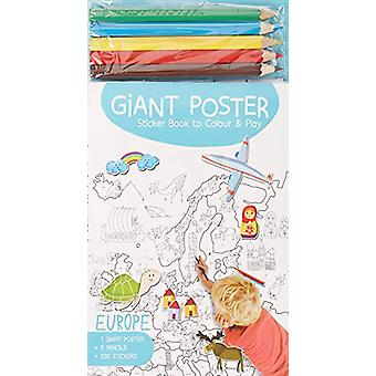 Giant Poster Colouring Book - Europe by Yoyo Books - 9789463602396 Book