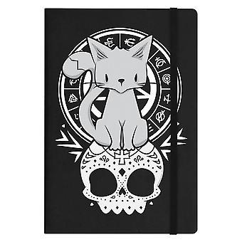 Grindstore chaton de la nuit a5 couverture rigide pour ordinateur portable