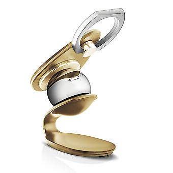 LinQ Magnetic Car Holder and 360 ° Rotating Universal Magnetic Ring Gold