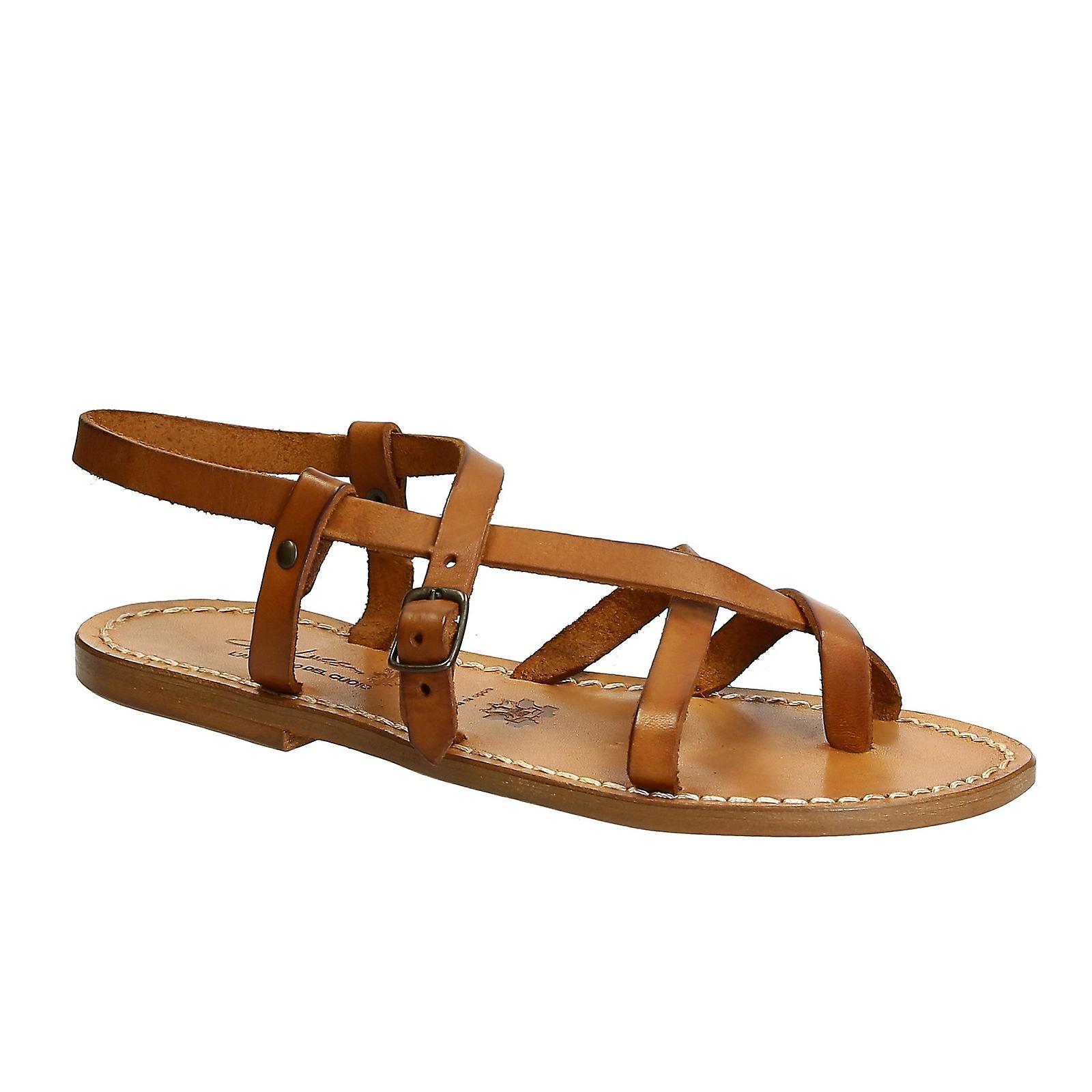 Gianluca - L'artigiano Del Cuoio 809sandbeige Women's Beige Leather Sandals