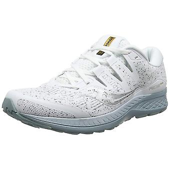 Saucony Mens Ride ISO Laufschuhe - White Noise Edition - Neutral Cushioning