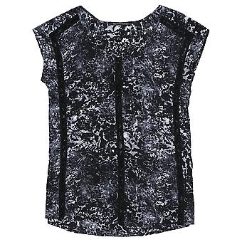 Maison Scotch Combo B Printed Contrast Top