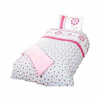 Pippa Childrens/Girls Single Duvet Cover Bedding Set