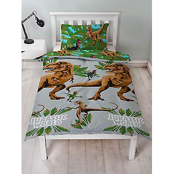 Jurassic World Jungle Duvet Cover et Pillowcase Set