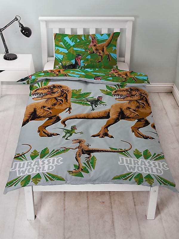 Jurassic World Jungle Duvet Cover and Pillowcase Set
