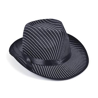 Bristol Novelty Unisex Adults Pin Striped Gangster Hat