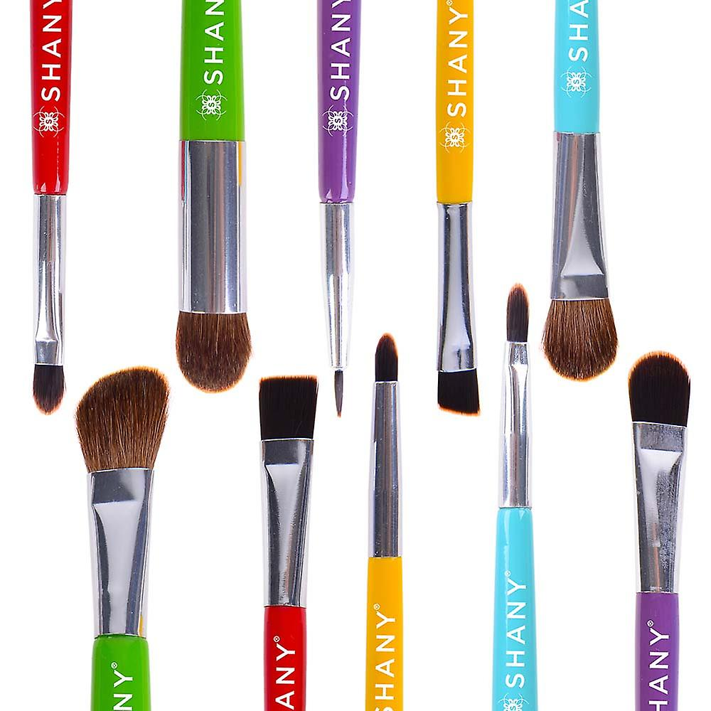 SHANY THE DOUBLE TROUBLE - 5 PC Double Sided Essential Brush Set with Travel Pouch