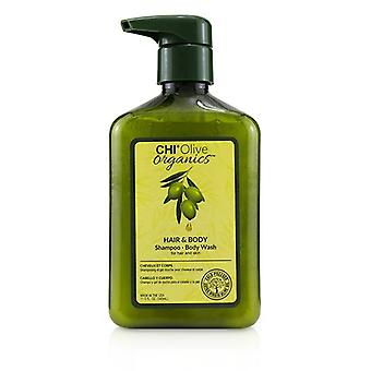 Chi Olive Organics Hair & Body Shampoo Body Wash (for Hair And Skin) - 340ml/11.5oz