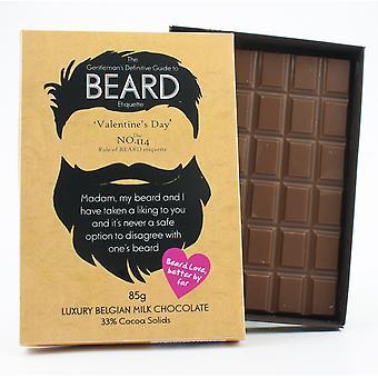Lustige Valentinstag Geschenk für bärtige Männer Bart Liebhaber Geschenk Schokolade Grußkarte BTQ125