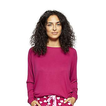 Cyberjammies 4226 Women-apos;s Susie Cherry Red Modal Pyjama Top