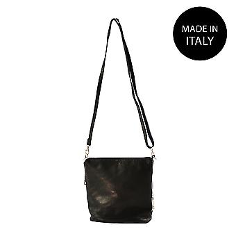 Schultertasche aus Leder Made in Italy 10019
