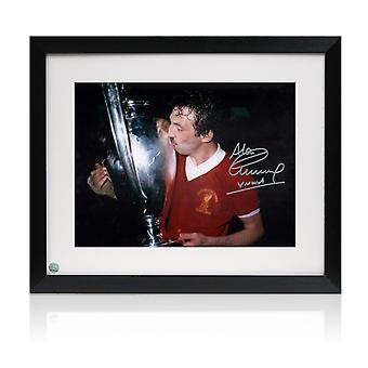 Alan Kennedy Signed Liverpool FC Photo: European Cup Winner. Framed
