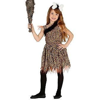 Meisjes Cavewoman prehistorische Fancy Dress kostuum