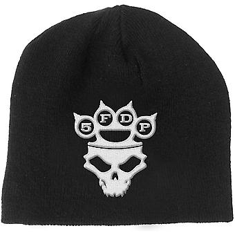 Five Finger Death Punch Beanie Hat KnuckleDuster Band Logo Skull Official Black