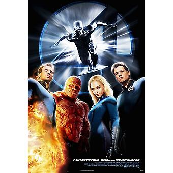 Fantastic Four: Rise Of The Silver Surfer (Double Sided Advance B) (2007) Original Cinema Poster