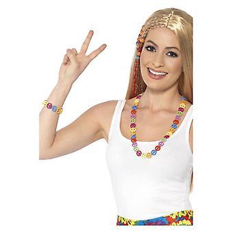 Hippie Peace-Zeichen gesetzt Fancy Dress Zubehör