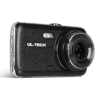 4インチデュアルダッシュカメラ - ブラック
