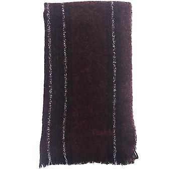 Gauze Wool Blend Striped Scarf
