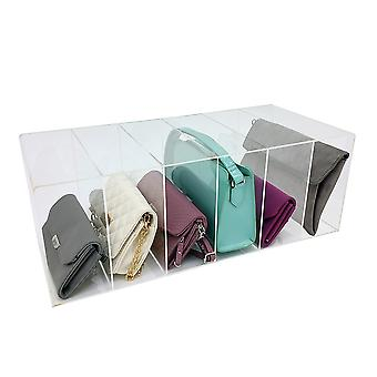 OnDisplay Deluxe Large Acrylic 6 Slot Purse/Handbag Organizer