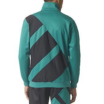 adidas Originals Mens EQT Long Sleeve Zipped High Collar Track Top Jacket -Green