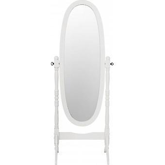 Contessa Cheval Mirror - White