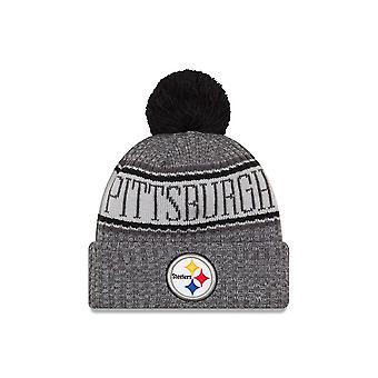 New Era Nfl Pittsburgh Steelers Sideline Graphite Sport Knit