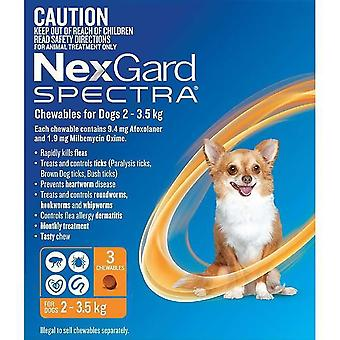 Nexgard Spectra X-Small 2 - 3,5 kg (4,50 - 8 lbs) - 3 pack