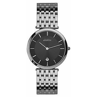 Michel Herbelin 414-B14 Men's Epsilon Black Dial Extra Flat Wristwatch