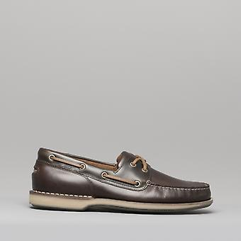 Rockport Perth Mens Leather Boat Shoes Brown
