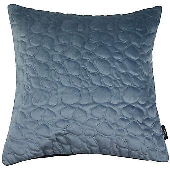 McAlister textilier sten quiltad mörkblå sammet kudde