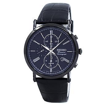 Reloj Seiko Premier Chronograph Alarm Quartz SNAF79 SNAF79P1 SNAF79P Men's
