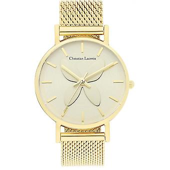 Sehen Sie Christian Lacroix Uhren CLFH1813 - Milanese Dor e Women es Maille Watch