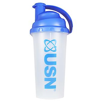 USN Mixmaster Clear Shaker Blue No Compartments