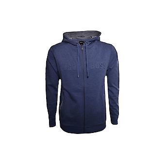 Hugo Boss Leisure Wear Hugo Boss Men's Blue Heritage Hooded Zip Through Sweatshirt