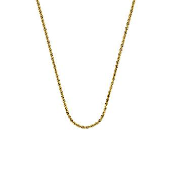 14k Yellow Gold Hollow Rope Chain Ankle Bracelet 1.8mm Lobster Claw Closure 10 Inch Jewelry Gifts for Women