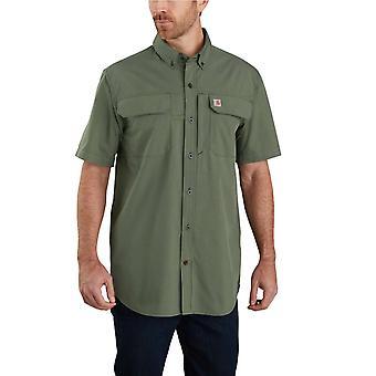 Carhartt Mens Force Woven Relaxed Fit Short Sleeve Shirt