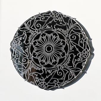 Mandala Pinnsvin Sirkel Gravert Akryl Speil