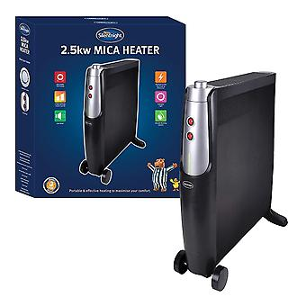 Silentnight 2.5kW Mica Heater 2500 Watt Black