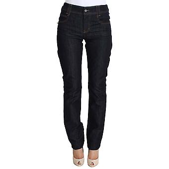 Galliano Blue Regular Fit Sequined Cotton Denim Jeans