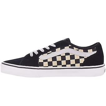 Vans Mens Filmore Decon Checkered Low-Top Casual Trainers Sneakers - Black/White