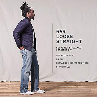 Levi's Hombres's 569 Loose Straight Fit Jean, Gail Wind - Stretch, 30W x 34L
