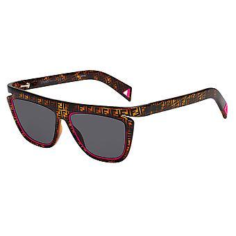 Fendi FF0384/S 0T4/IR Havana-Pink/Grey Sunglasses