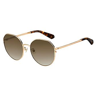 Kate Spade Carlita/F/S 086/HA Gold-Dark Havana/Brown Gradient Sunglasses