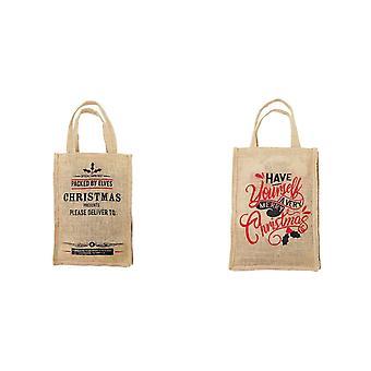 Boutique Noël poignée sac de Jute