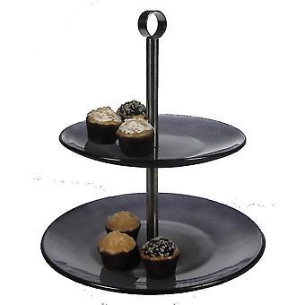 Cake schotel 2 verdiepingen zwart