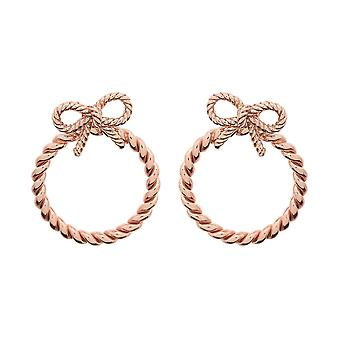 Olivia Burton Watches Obj16vbe08 Bow Hoop Earrings Rose Gold