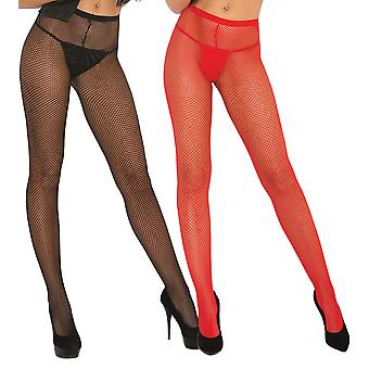 Womens Fishnet Pantyhose Tights Hosiery- 2 Pack